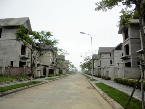 Khu đô thị không bóng người khiến không ít người phải rùng mình. (ảnh: Tuấn Linh)