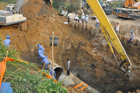 Tuyến ống nước Sông Đà: Chất lượng do Vinaconex chịu trách nhiệm