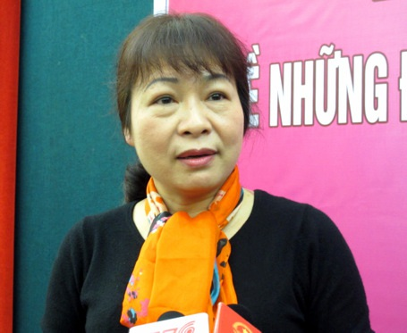 Bà Trần Thị Thúy Nga (Vụ trưởng Vụ BHXH, Bộ LĐ-TB&XH)