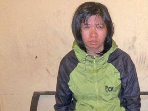 Trần Thị Hằng và tang vật vụ trộm