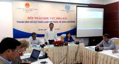 Các đại biểu bổ sung thông tin cho dự luật ATVSLĐ
