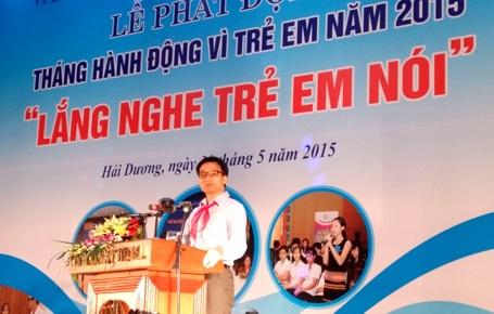 Phó Thủ tướng Chính phủ Vũ Đức Đam phát biểu tại buổi lễ