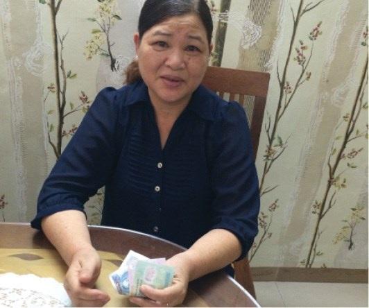 Bà Nguyễn Thị Thỏa 19 năm đóng BHXH, mức lương hưu không đủ tiền ăn sáng (Ảnh: Đoàn Tất Thảo)