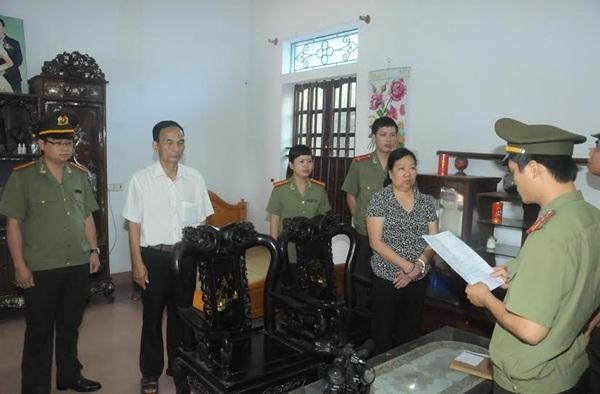 Cơ quan An ninh điều tra đọc lệnh bắt tạm giam bà Trần Thị Thắng