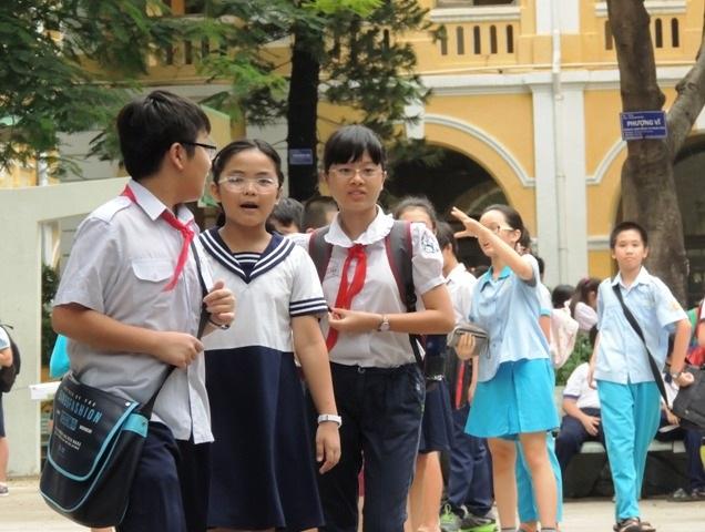 Học sinh thi vào lớp 6 chuyên Trần Đại Nghĩa (TPHCM) năm học 2014 - 2015
