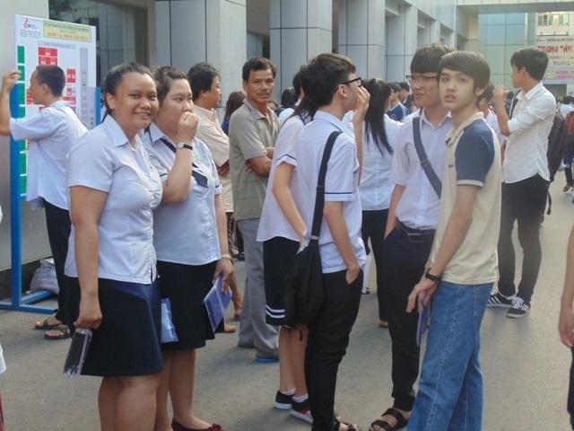 Hầu hết thí sinh có tâm lý thoải mái trước khi bước vào môn thi đầu tiên (