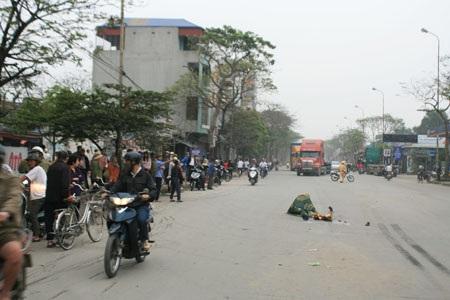 Hiện trường xảy ra vụ tai nạn