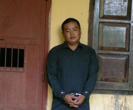 Đối tượng Việt bị bắt giữ tại cơ quan điều tra