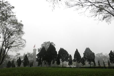 Trời âm u vì mưa mù liên tục kéo dài.