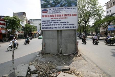 Khu vực nhà ga Thanh Xuân 3 vẫn để trống.