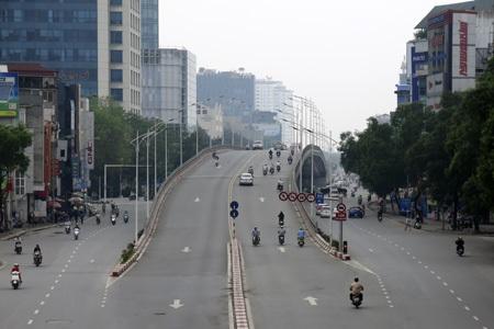 Các điểm giao thông quan trọng của Hà Nội không xảy ra ùn tắc giờ cao điểm.