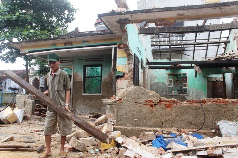Tỉnh Bình Định có 92 nhà sập hoàn toàn do bão số