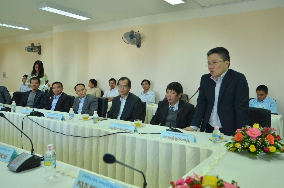 GS. Ngô Bảo Châu làm việc tại ĐH Quy Nhơn.