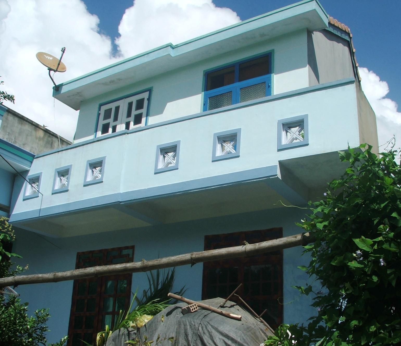 Nhà phòng, tránh bão, lụt của người dân xã Xuân Sơn Bắc, huyện miền núi Đồng Xuân