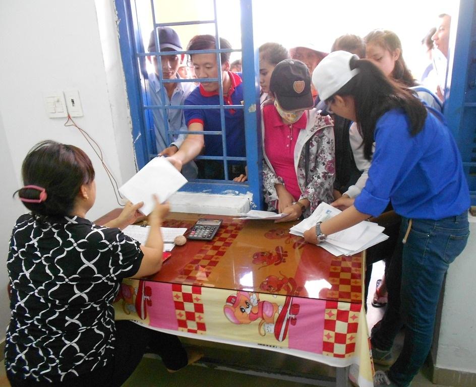 Thí sinh đăng ký ở trong Ký túc xá Trường ĐH Quy Nhơn