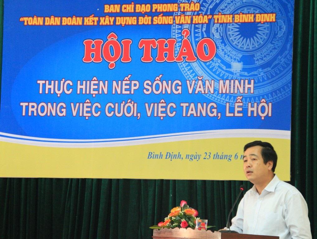 Phó Chủ tịch UBND tỉnh Bình Định phát biểu chỉ đạo tại hội thảo