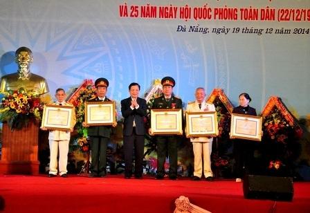 129 sĩ quan quân đội được trao tặng Huân chương bảo vệ Tổ quốc