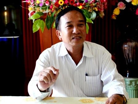 Ông Nguyễn Thanh - Bí thư Huyện ủy Lý Sơn