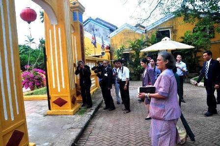 Công chúa Thái Lan tham quan di tích Cẩm Phô