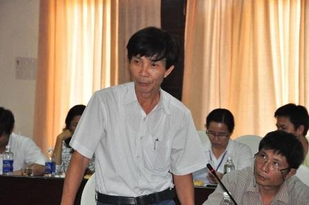 Ông Nguyễn Sự - Bí thư Thành ủy Hội An – trong một lần trao đổi với các cơ quan báo chí tại Hội An