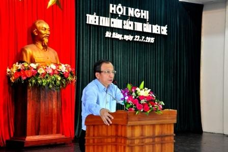 Ông Võ Duy Khương – Phó Chủ tịch thường trực TP Đà Nẵng – phát biểu tại hội nghị