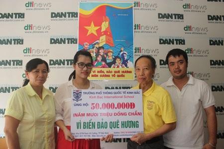 Thầy trò Trường phổ thông Quốc tế Kinh Bắc chung tay hướng về biển Đông