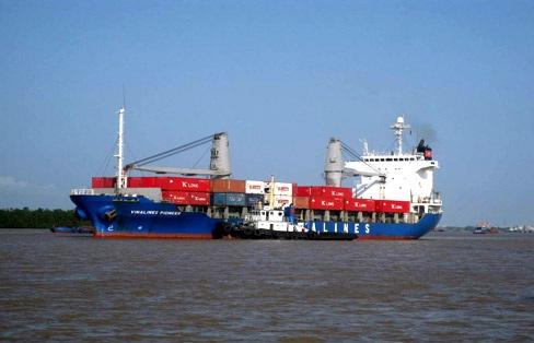 Tàu Pioneer của Công ty Vận tải biển Container Vinalines