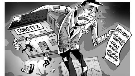 Nợ, giảm lương, điều chuyển vị trí