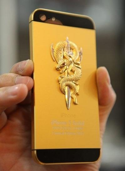 iPhone 5 nạm vàng phiên bản năm Rắn