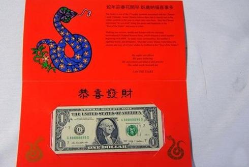 Tờ 1 USD may mắn cho năm 2013