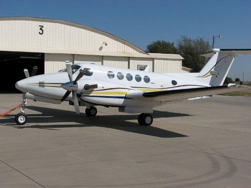 Một chiếc King Air 200 cùng loại với chiếc máy bay gặp trục trặc kỹ thuật chiều 25/11