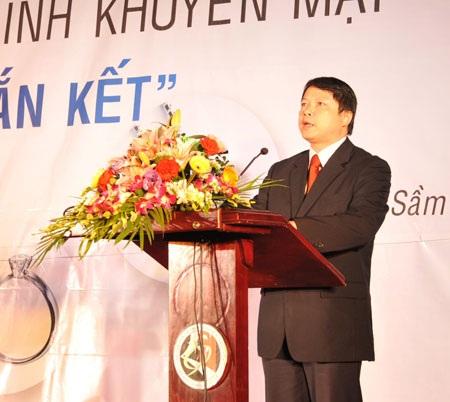 Phó Tổng Giám đốc Nguyễn Văn Du phát biểu tại buổi lễ.