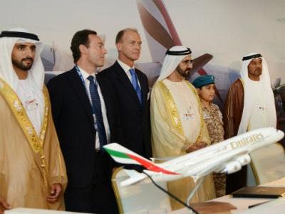 Emirates ký hợp đồng mua máy bay Airbus