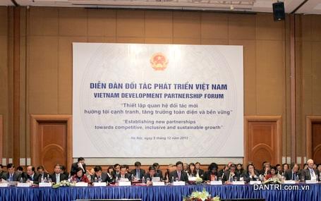 Quang cảnh tại Diễn đàn đối tác phát triển Việt Nam (VDPF).