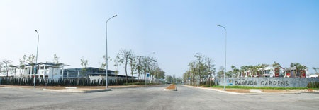 Trục đường chính dẫn vào khu đô thị