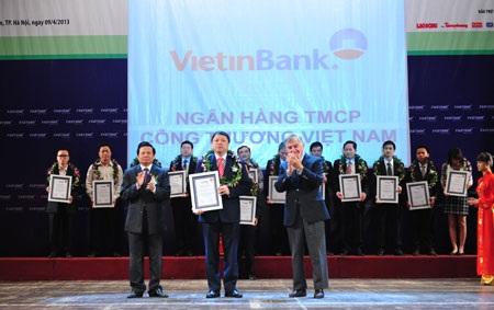VietinBankđạt top 500 doanh nghiệp tăng trưởngnhanh nhất 2013