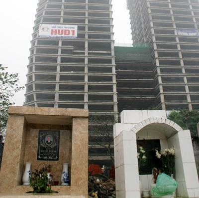 Tòa nhà văn phòng hơn 30 tầng đối điện sẽ có tầm nhìn ra nghĩa trang.