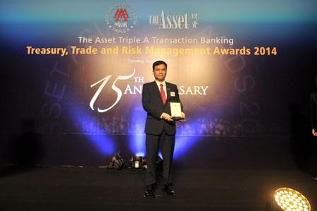 """Giải thưởng """"Ngân hàng cung cấp dịch vụ Tài trợ thương mại tốt nhất Việt Nam"""""""