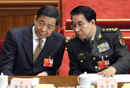 Tướng Từ Tài Hậu (phải) và ông Bạc Hy Lai (trái)