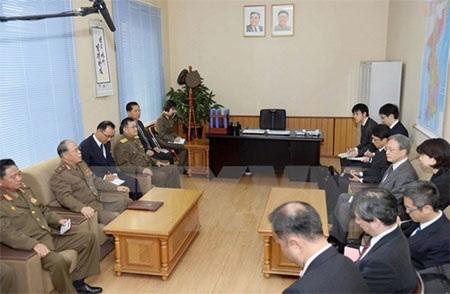 Một cuộc đàm phán về vấn đề bắt cóc tin giữa đại diện hai nước (Nguồn: Kyodo/TTXVN)