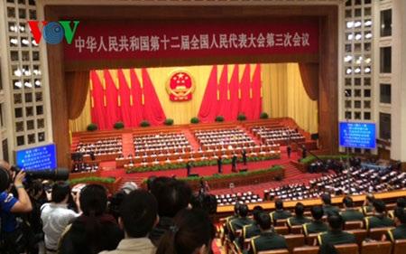 Bế mạc kỳ họp thứ 3 Quốc hội Trung Quốc khóa 12