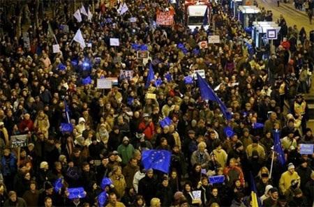 Hàng nghìn người đã tuần hành ở thủ đô Budapest, Hungary