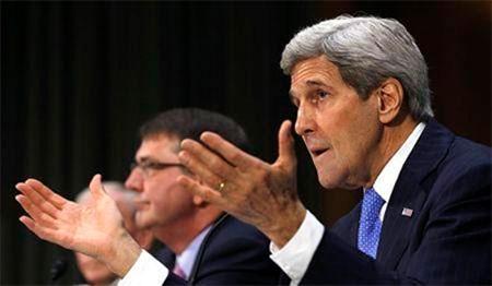 Ngoại trưởng Mỹ John Kerry phát biểu tại Ủy ban Đối ngoại Thượng viện Mỹ, ngày 11-3