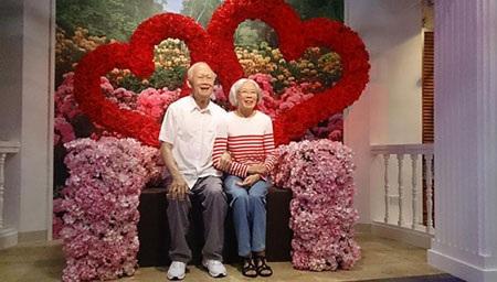 Ông Lý Quang Diệu và bà Kha Ngọc Chi đã có quãng đời hạnh phúc bên nhau (Ảnh: Straitstimes.com)