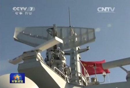 Hình ảnh Trung Quốc xây đảo nhân tạo bất hợp pháp ở Biển Đông trên truyền hình Nhật Bản