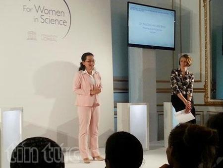 Nữ tiến sĩ Việt nhận giải Nhà khoa học trẻ tài năng thế giới