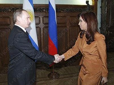 Tổng thống Nga Putin và người đồng cấp Argentina Cristina Fernandez de Kirchner
