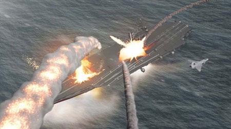Mô phỏng một cuộc tấn công của DF-21D vào một tàu sân bay