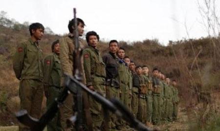 Lực lượng nổi dậy Myanmar tập trung tại một căn cứ quân sự ở Kokang, biên giới Myanmar