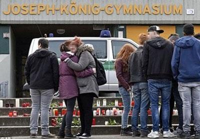 Không khí tang thương bao trùm trường Josef Konig Gymnasium